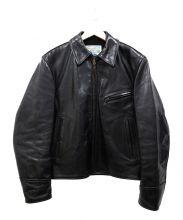 AERO LEATHER(エアロレザー)の古着「シングルレザージャケット」|ブラック