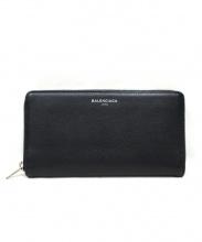 BALENCIAGA(バレンシアガ)の古着「ラウンドファスナー財布」|ブラック