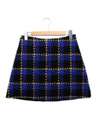 MARNI(マルニ)の古着「ウールスカート」|ブルー×ブラック
