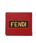 FENDI(フェンディ)の古着「HOPEロゴ札入れ」|レッド×ブラック