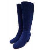 CELINE(セリーヌ)の古着「スウェードブーツ」|ブルー