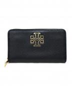 TORY BURCH(トリーバーチ)の古着「ラウンドレザー財布」|ブラック