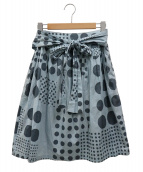 mina perhonen(ミナ ペルホネン)の古着「ユニバースギャザースカート」