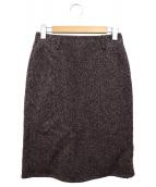 45R(45アール)の古着「ウールスカート」|ブラウン