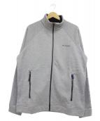 Columbia(コロンビア)の古着「ボア襟ジップアップジャケット」|ライトグレー