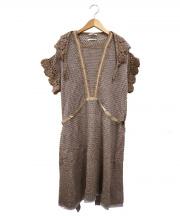 mina perhonen(ミナペルホネン)の古着「エプロンワンピース」