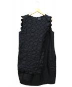 mina perhonen(ミナ ペルホネン)の古着「ワンピース」|ブラック