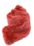 JUNYA WATANABE COMME des GARCONS(ジュンヤワタナベ コムデギャルソン)の古着「パイルファーマフラー」|ピンク
