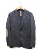 eleventy(イレブンティ)の古着「エルボーパッチウールジャケット」|ライトグレー