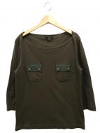 LOUIS VUITTON(ルイヴィトン)の古着「LVロゴ7分袖カットソー」|カーキ