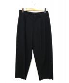 Y's for men(ワイズフォーメン)の古着「タックワイドパンツ」|ブラック
