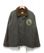 HOUSTON(ヒューストン)の古着「デッキジャケット」|グレー
