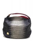 A.D.M.J.(エーディーエムジェー)の古着「型押しワンショルダーバッグ」|グレー