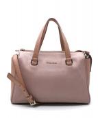 MIU MIU(ミュウミュウ)の古着「マドラス2WAYバッグ」|ピンク