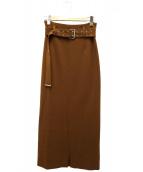 G.V.G.V.(ジーブイジーブイ)の古着「ハイウエストロングスカート」 ブラウン
