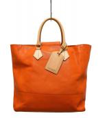 A.D.M.J.(エーディーエムジェイ)の古着「シュリンクレザートートバッグ」|オレンジ