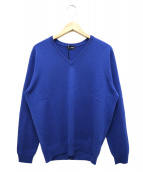 Drumohr(ドゥルモア)の古着「カシミヤ混Vネックニット」|ブルー