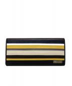 SAMANTHA KINGZ(サマンサ キングズ)の古着「長財布」|イエロー×ブラウン