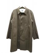 HANCOCK(ハンコック)の古着「ゴム引きコーティングコート」|オリーブ