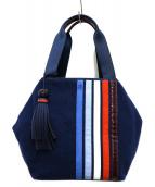 TORY BURCH(トリーバーチ)の古着「patchwork triangle satchel」|ネイビー