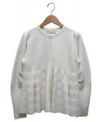 CELFORD(セルフォード)の古着「ペプラムカーディガン」|ホワイト