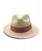 Chapeaud'O(シャポードオー)の古着「パナマハット」|ピンク×アイボリー