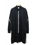 Mr.GENTLEMAN(ミスタージェントルマン)の古着「ラインジップアップロングジャージ」|ブラック
