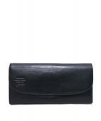 genten(ゲンテン)の古着「がま口フラップ長財布」|ブラック