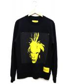 Calvin Klein Jeans(カルバンクラインジーンズ)の古着「ポートレートスウェット」 ブラック