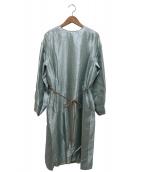 DRAWER(ドゥロワー)の古着「シルクワンピース」|グリーン