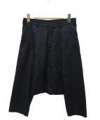 BLACK COMME des GARCONS(ブラックコムデギャルソン)の古着「サルエルウールパンツ」 ブラック
