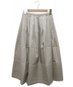 agnes b(アニエスベー)の古着「コットンロングスカート」|ベージュ