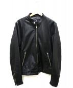 BEAUTY&YOUTH(ビューティアンドユース)の古着「ラムレザーライダースジャケット」|ブラック
