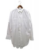 COCUCA(コキュカ)の古着「オーバーサイズロングシャツ」|ホワイト