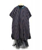 FRAPBOIS(フラボア)の古着「スイボクワンピース」|ネイビー