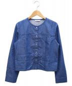 ANAYI(アナイ)の古着「デニムライクノーカラージャケット」