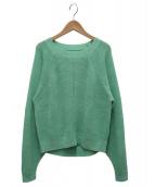 SAYAKA DAVIS(サヤカ デイビス)の古着「Cropped Back Sweater」|グリーン