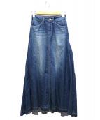 woadblue × IENA(ウォードブルー×イエナ)の古着「ロングデニムスカート」
