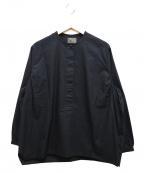 オローネ(オローネ)の古着「バルーンプルオーバーシャツ」|ブラック