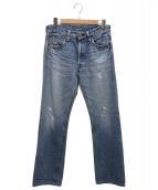 LEVIS VINTAGE CLOTHING(リーバイス ヴィンテージ クロージング)の古着「ダメージ加工デニムパンツ」