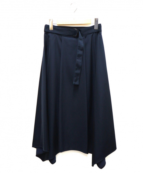 ANAYI(アナイ)ANAYI (アナイ) エアリーサテンイレギュラーヘムスカート サイズ:38 未使用品 日本製 19SSの古着・服飾アイテム