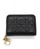Christian Dior(クリスチャン ディオール)の古着「キルトレザーコインカードケース」|ブラック