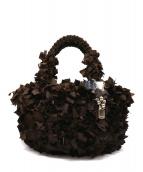 EPOCA(エポカ)の古着「フリルハンドバッグ」 ブラウン