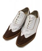 tricot COMME des GARCONS(トリコ コム デ ギャルソン)の古着「レザーレースアップシューズ」|ホワイト×ブラウン