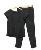BARNYARDSTORM(バンヤードストーム)の古着「ストレッチブラウスセットアップ」|ブラック