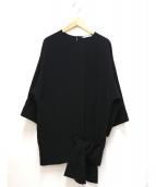qualite(カリテ)の古着「裾リボンブラウス」|ブラック
