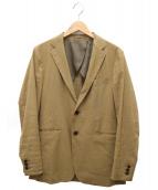TOMORROW LAND(トゥモローランド)の古着「ストレッチリネン2Bテーラードジャケット」|ベージュ