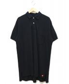 HUMAN MADE(ヒューマンメイド)の古着「ビッグサイズ鹿の子ポロシャツ」|ブラック