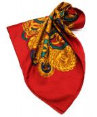 CHANEL(シャネル)の古着「シルクスカーフ」|レッド