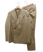 TAGLIATORE(タリアトーレ)の古着「セットアップダブルスーツ」|ベージュ